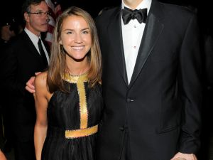 Skyler and new wife Jennifer Yuille (Patrick McMullen)