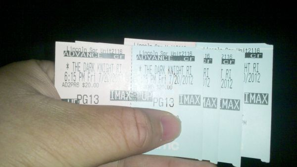 New York City's Scalper Market Prices <em>The Dark Knight Rises</em> in IMAX 3D: $85 a Ticket
