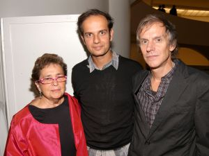 Marian Goodman, Sehgal, Andrew Richards. (Courtesy Patrick McMullan Company)