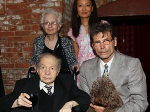 Counterclockwise from top left: Dorothy and Herbert Vogel, Richard Tuttle and Megumi Sasaki. (Courtesy Getty Images)