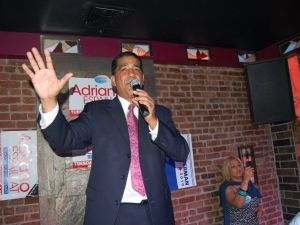 Adriano Espaillat speaking to his supporters the night of his congressional challenge. (Photo: Facebook)