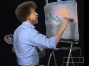 Bob Ross' 'Happy Little Clouds' (YouTube)