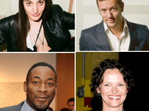 Clockwise from top left: Ana Finel Honigman, Didier Damiani, Cecilia Alemani and Franklin Sirmans. (Courtesy Patrick McMullan)