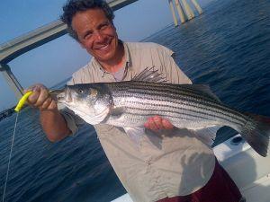 Governor Cuomo holding a fish. (Photo: @ChrisCuomo)