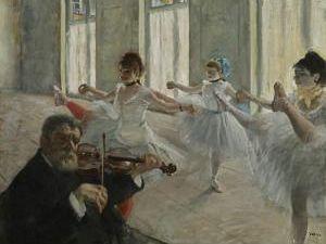 "Degas, ""The Rehearsal,"" 1878-1879. (Courtesy the Frick)"