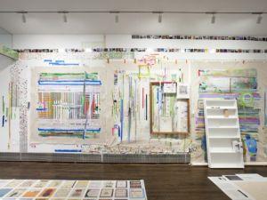 Installation view of Franklin Evans's 'Eyesontheedge' at Sue Scott Gallery, 2012. (Courtesy Sue Scott Gallery)