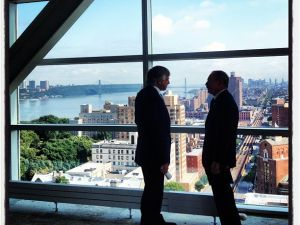 Mr. Bloomberg and Mr. Bollinger. (Photo: NYC Mayor's Office Instagram