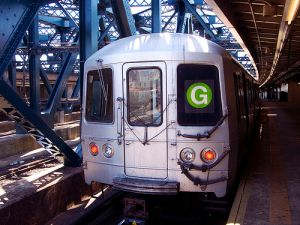 Finally, reason to celebrate the G-train. (Free Williamsburg)