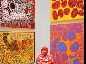Yayoi Kusama at the Whitney retrospective in 2012. (Courtesy the Whitney Museum)