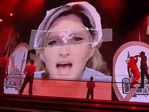 Madonna's decorations land her in trouble in le Paris (YouTube)