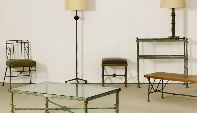 Furniture of Diego Giacometti, part of the estate. (Courtesy Christie's)