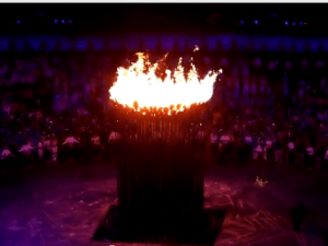 Olympic flame (screengrab)