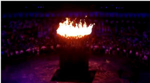 Olympic flame (screengrab)