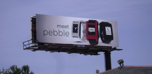 A billboard for Pebble designed and booked on ADstruc. (adstruc.com)