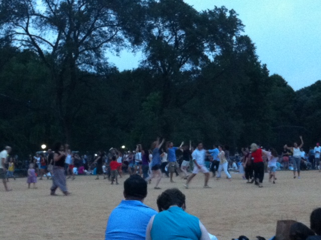 Tchaikovsky in Central Park Causes Outbreak of Mass Movement, Twirling