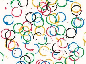 Rachel Whiteread's Olympic tea rings.