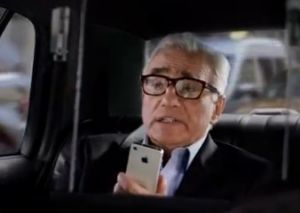 Martin Scorsese in the new iPhone ad (YouTube)