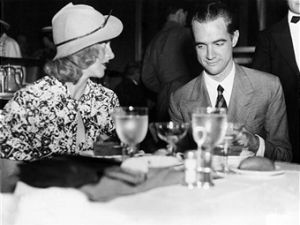 Ginger Rogers and Howard Hughes, two years after the Rainbow Room opened. (Getty)