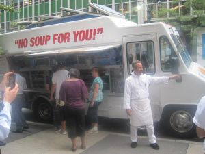 The Soup Nazi at the Seinfeld Food Truck (Pix11)