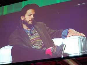 Mr. Kutcher at TechCrunch Disrupt. (flickr.com/kevinkrejci