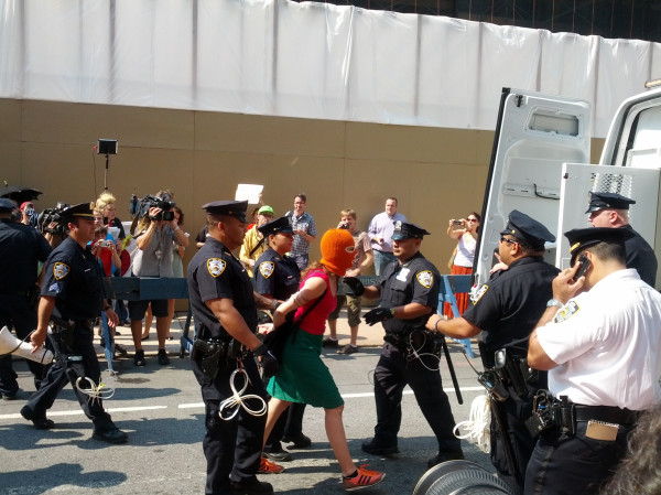 Developing: Six Arrested at Pussy Riot Demonstration