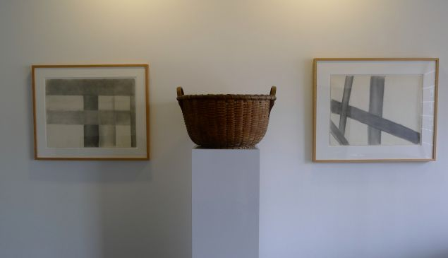 Installation view of Artschwager at National Exemplar. (Courtesy National Exemplar Gallery)