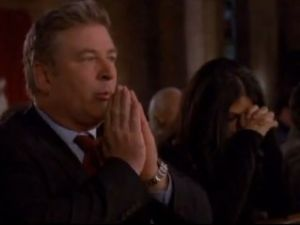 Church-goers give Baldwin the evil eye (NBC)