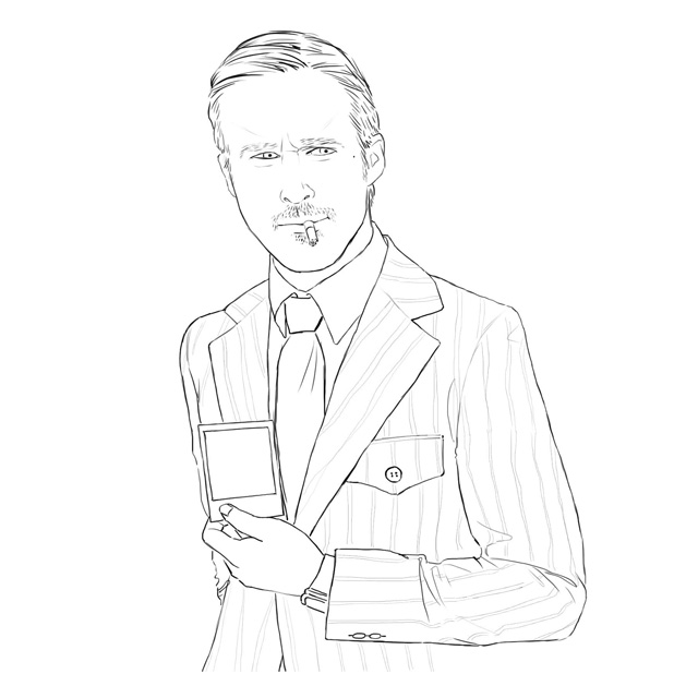 Ryan Gosling's Coloring Book: The Rejected Applicants