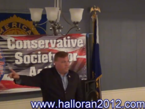 Dan Halloran speaking. (Photo: YouTube)