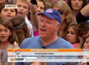 "Congressman Joe Crowley singing along to ""Call Me Maybe"" at the Today Show. (Photo: NBC)"