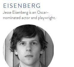 Jesse Eisenberg, yurt-dweller (90days90reasons.com)