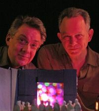 Joshua White (left) with Gary Panter. (Courtesy Museum of Contemporary Art Detroit)