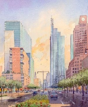 Dreams of our fathers: an early rendering from when Downtown Brooklyn was rezoned, less than a year ago.