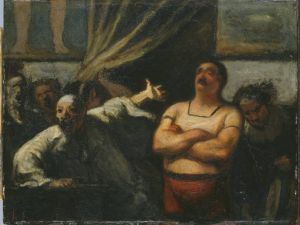 Honore Daumier, The Strong Man, 1865 Philips Collection Art Gallery Washington DC link: http://www.phillipscollection.org/willo/w/size3/0380w.jpg