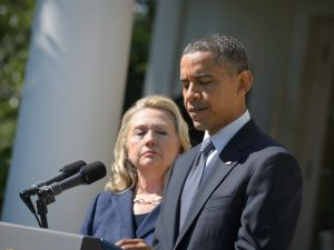 President Barack Obama with then Secretary of State Hillary Clinton in 2012 (Photo: Getty)