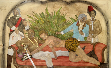 Frohawk Two Feathers Remixes History With Gilded Paintings