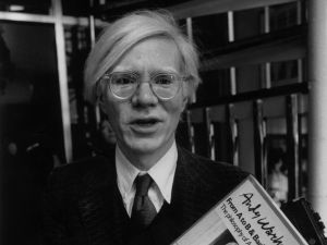 Warhol in 1979 at Mr. Chow in London. (Courtesy Evening Standard/Getty Images)