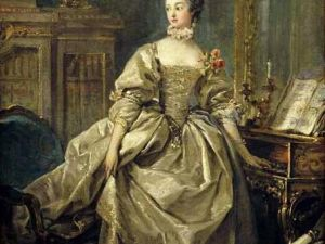 A circa 1750 portrait of Madame de Pompadour by Boucher in the collection of the Louvre. (Courtesy Wikimedia)