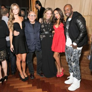 Nina Agdal, Max Azria, Lubov Azria in Hervé Léger, Dania Ramirez and Rico Love are all smiles at The Boom Boom Room.
