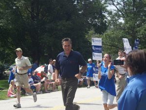 Why are you jogging in a polo, Mitt? (Photo: flickr.com/marcn)
