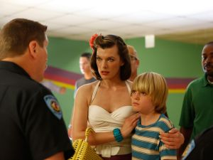 Jovovich and List in Bringing Up Bobby.