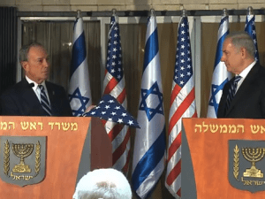 Mayor Bloomberg and P.M. Netanyahu meeting in Jerusalem last year. (Photo: YouTube)
