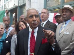 Charlie Rangel giving his passionate speech earlier today.