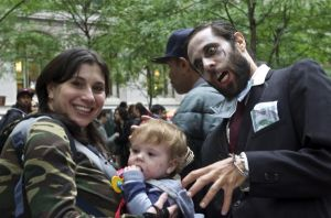 Last year's Occupy Wall Street zombie protests