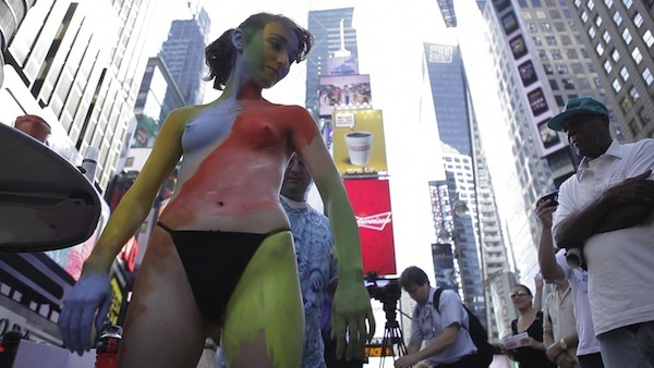 Naked, Painted Person in Times Square Vindicated in $15,000 Settlement