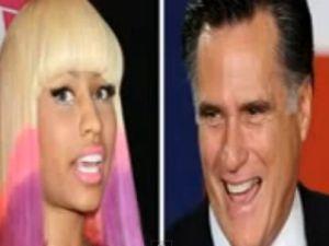 Nicki Minaj and Mitt Romney (YouTube)