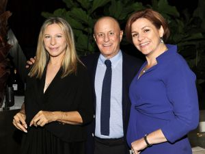 Barbra Streisand, Ronald Perelman and Christine Quinn. (Photo: Patrick McMullan)