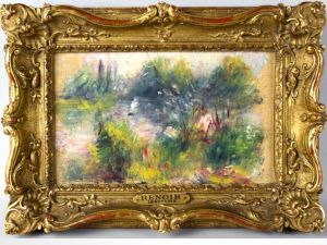 Painting found at flea market believed to be a Renoir. (Courtesy The Potomac Company)