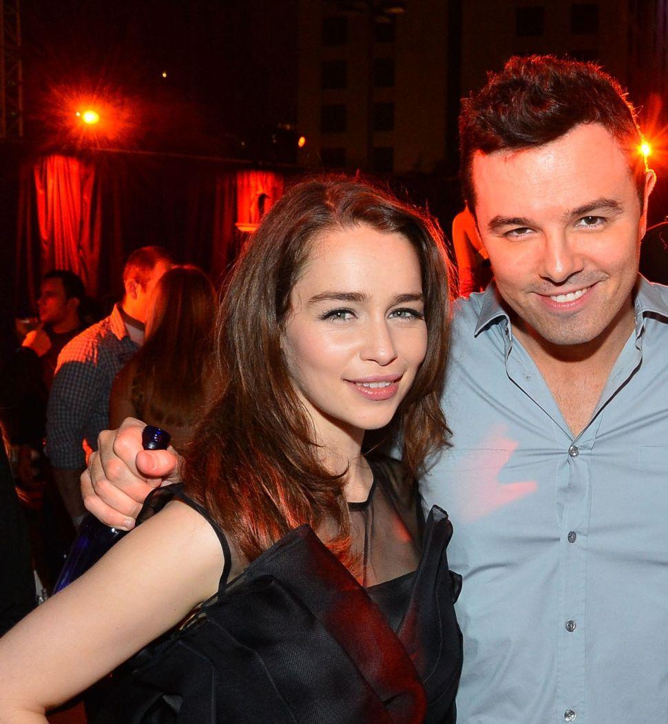 Seth MacFarlane (Allegedly) Hooked Up With Not-Emilia Clarke at <em>SNL</em> After Party