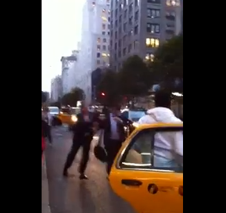 Happy Saturday, Here's A Couple of Guys Fighting Over a Taxi [Video]
